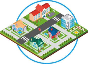 発電した電力を電力会社へ送電したり、自家消費などに利用します。